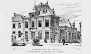 Het eerste pand van de Nutsspaarbank aan het Westeinde Het Nutshuis Den Haag
